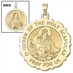 Scapular Scalloped Round Medal  EXCLUSIVE