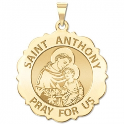 Saint Anthony Scalloped Medal  EXCLUSIVE