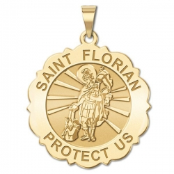Saint Florian Scalloped Medal   EXCLUSIVE