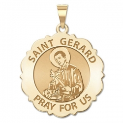 Saint Gerard Scalloped Medal  EXCLUSIVE
