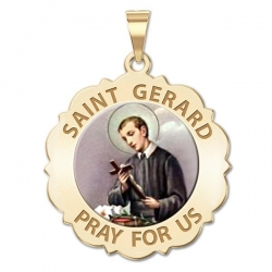 Saint Gerard Scalloped Medal  Color EXCLUSIVE