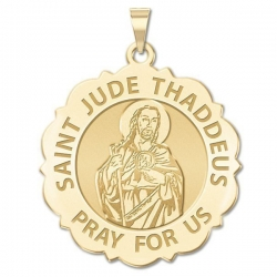 Saint Jude Scalloped Medal   EXCLUSIVE