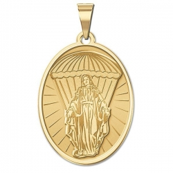 Virgin Mary Paratrooper Medal   EXCLUSIVE