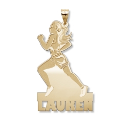 Custom Female Runner Charm or Pendant