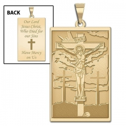 The Crucifixion of Jesus  Doubled Sided Rectangle Medal  EXCLUSIVE