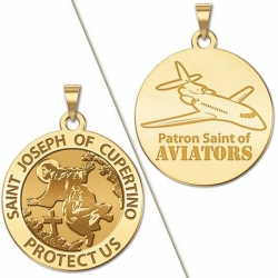 Saint Joseph of Cupertino Aviator  Medal  EXCLUSIVE