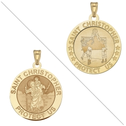 Volleyball   Saint Christopher Doubledside Sports Medal  EXCLUSIVE