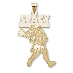 Custom Lacrosse Girl Charm or Pendant