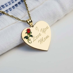 I love You Mom Rose Heart