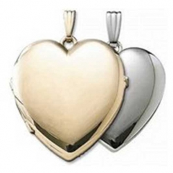 Build Your Own 14K Gold 4 Picture Heart Locket