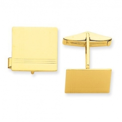 Square Engravable Cufflinks