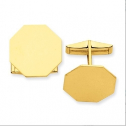 Octagon Engravable Cufflinks