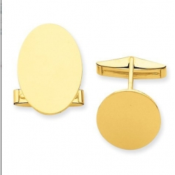 Oval Engravable Cufflinks