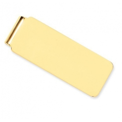14k Yellow Gold Engravable Money Clip