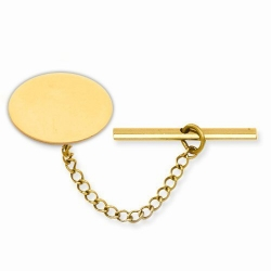 Oval  Engraveable  Tie Tack
