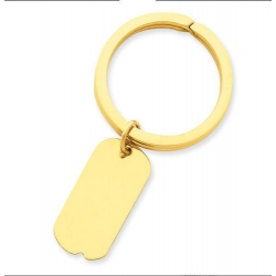 Engraveable Dog Tag Key Chain