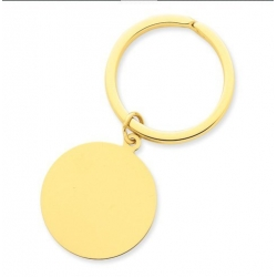Engraveable Round Key Chain