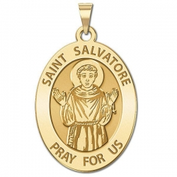 Saint Salvatore Medal  OVAL  EXCLUSIVE
