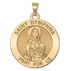 Saint Dymphna Round Medal  EXCLUSIVE
