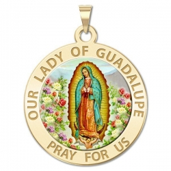 Our Lady of Guadalupe Medal   Color EXCLUSIVE