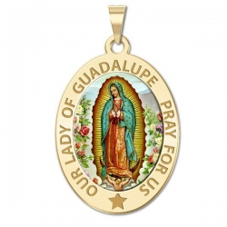 Our Lady of Guadalupe Medal  OVAL  EXCLUSIVE