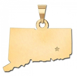 Connecticut   Personalized Pendant or Charm