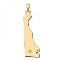 Delaware   Personalized Pendant or Charm