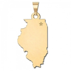 Illinois   Personalized Pendant or Charm
