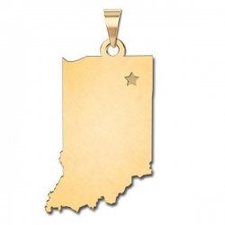 Indiana   Personalized Pendant or Charm