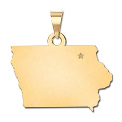 Iowa   Personalized Pendant or Charm