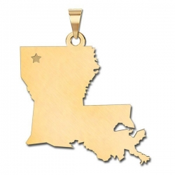 Louisiana    Personalized Pendant or Charm