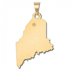 Maine    Personalized Pendant or Charm