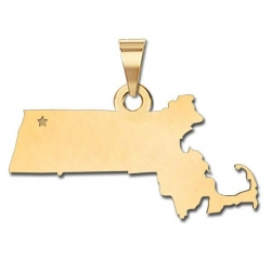Massachusetts   Personalized Pendant or Charm
