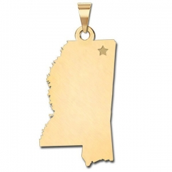 Mississippi   Personalized Pendant or Charm