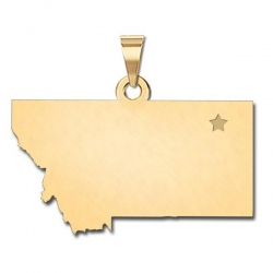 Montana   Personalized Pendant or Charm
