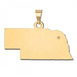 Nebraska   Personalized Pendant or Charm