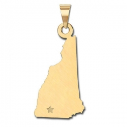 New Hampshire   Personalized Pendant or Charm