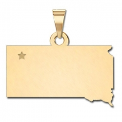 South Dakota   Personalized Pendant or Charm