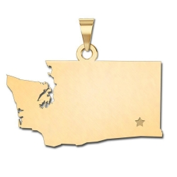 Washington   Personalized Pendant or Charm