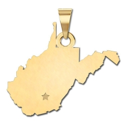 West Virginia   Personalized Pendant or Charm