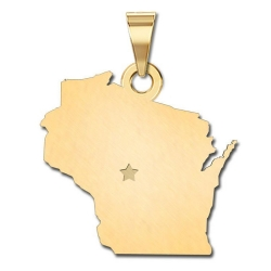 Wisconsin   Personalized Pendant or Charm