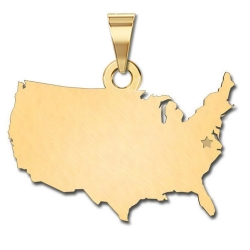 United States of America   Personalized Pendant or Charm