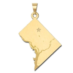 Washington DC   Personalized Pendant or Charm