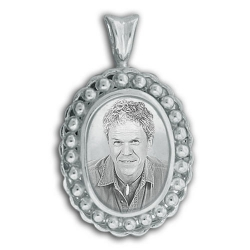 Sterling Silver Oval Cremation   Hair Locket w  Clear Front
