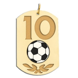 Personalized Soccer Number Dog Tag Color Pendant