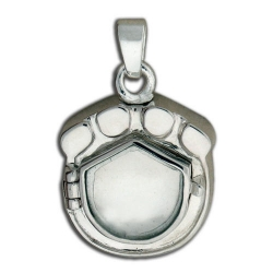 Sterling Silver  Photo  Paw Print Cremation Locket