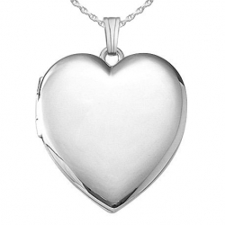 Sterling Silver  Plain  Heart Four Photo Locket