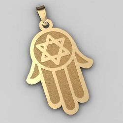 Hamsa Pendant w  Star of David Symbol