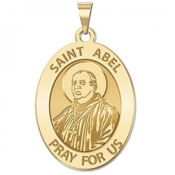 Saint Abel Medal   Oval  EXCLUSIVE