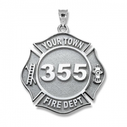 Personalized Firefighter Badge w  Your Number   Department